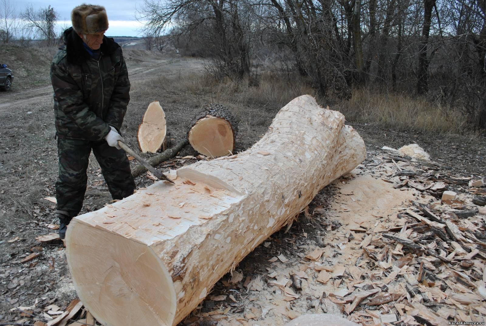 Из стволов дерева своими руками