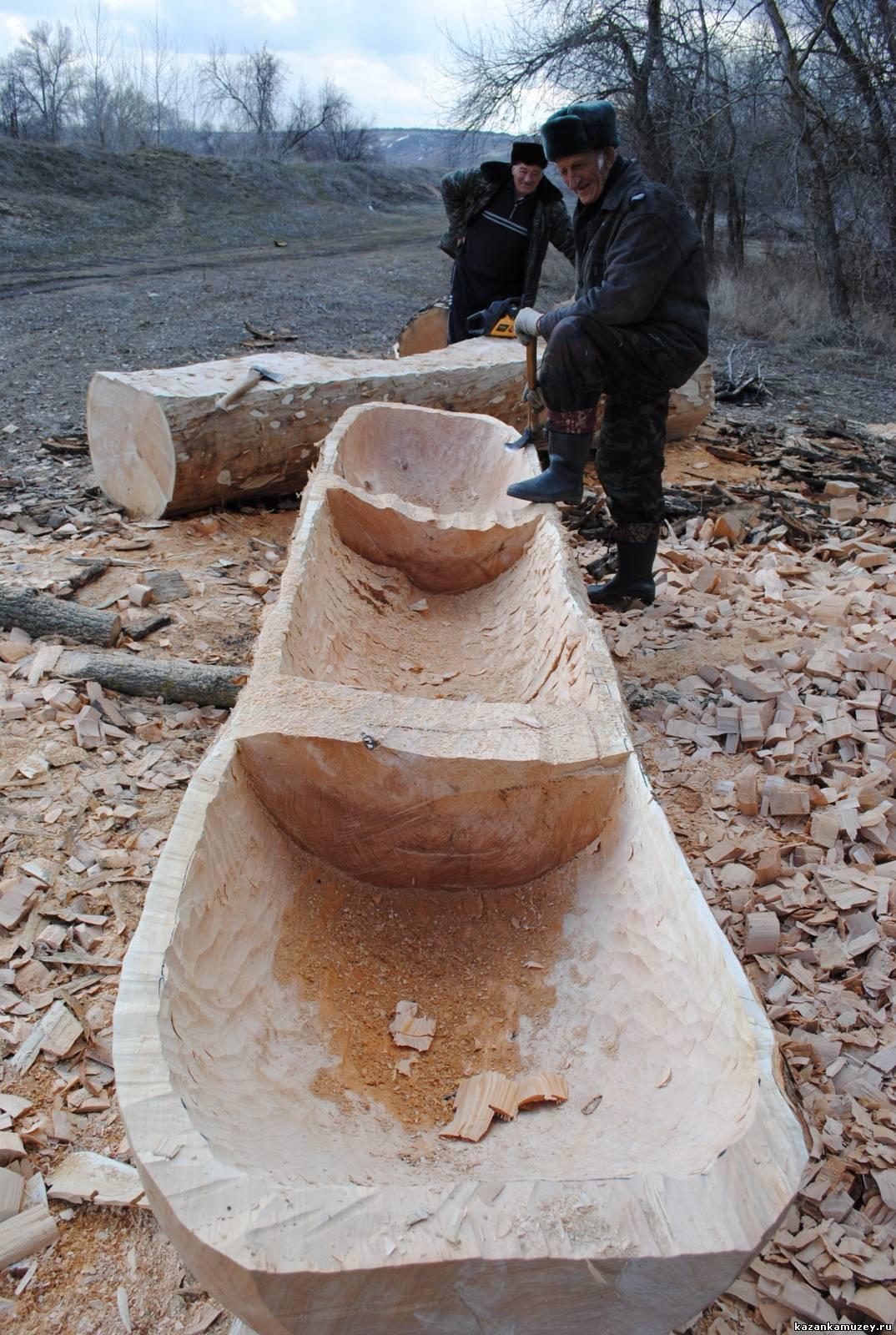 лодка сделанная из бревна